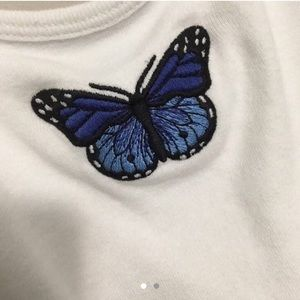 Brandy Blue Butterfly Skylar Top!